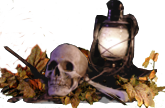 W skull and lantern