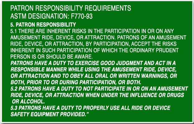 W Patron responsibility